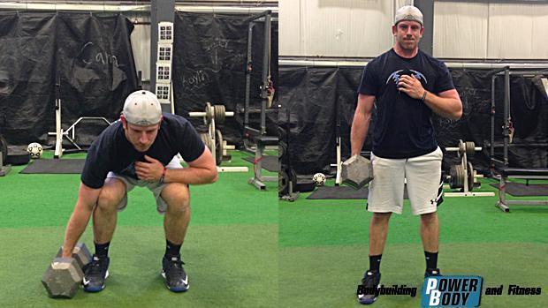 Становая тяга со штангой одной рукой. Тренировка кора (мышц стабилизаторов)