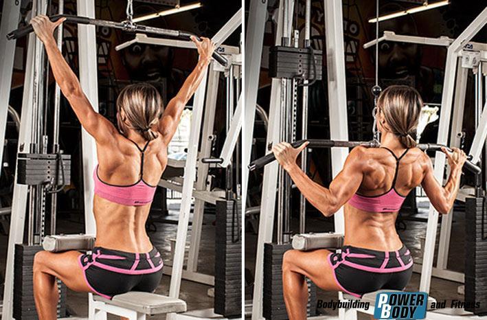 Тяга книзу на тренажере для широчайших мышц спины
