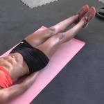 Подъем ног лежа на пресс — техника выполнения