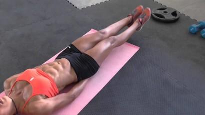 Подъем ног лежа на пресс - техника выполнения