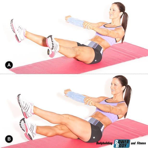 """Работающие мышцы. Упражнение """"Ножницы"""" для пресса"""