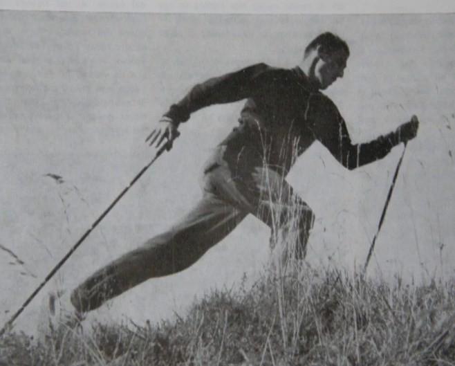 Скандинавская ходьба в 1940 году